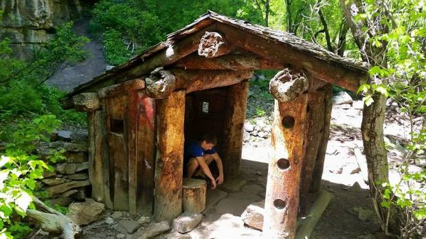 Cool cabin on the trail