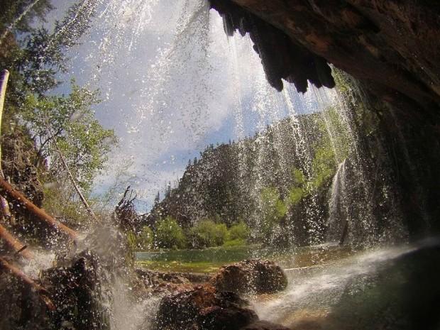 Under Hanging Lake